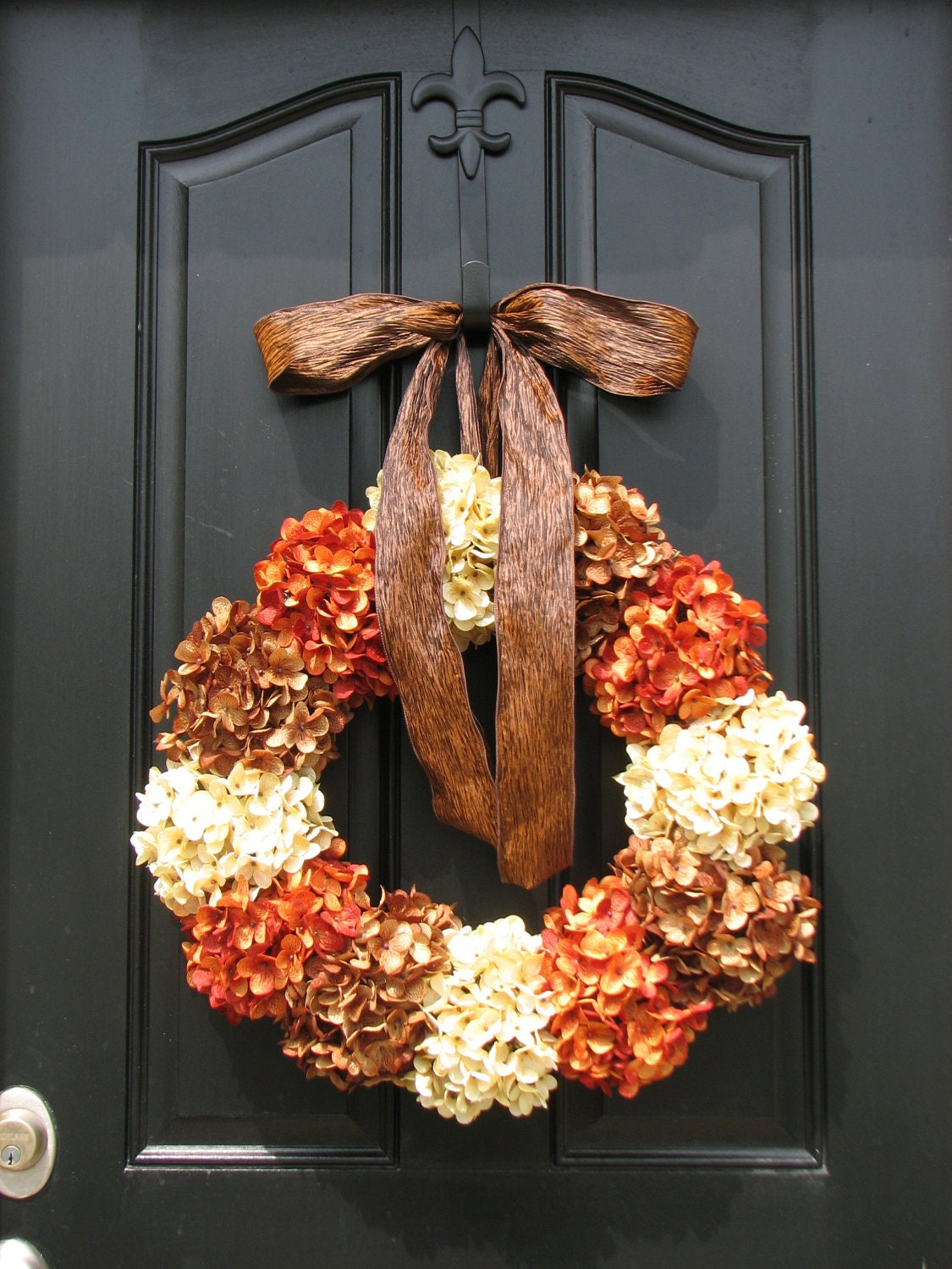 Xl holiday wreath autumn wreaths fall wreath fall by Fall autumn door wreaths