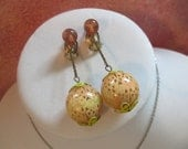 Earrings Vintage Bubble Ball Drop Clip On Style Cool Retro Back To School Fashion