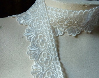 Ivory Lace Embroidered in Ivory Creme for Bridal, Lolita, Baptism Blessing Dedication Gowns, Costume Design  L 4035