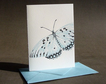 Butterfly Letterpress Greeting Card