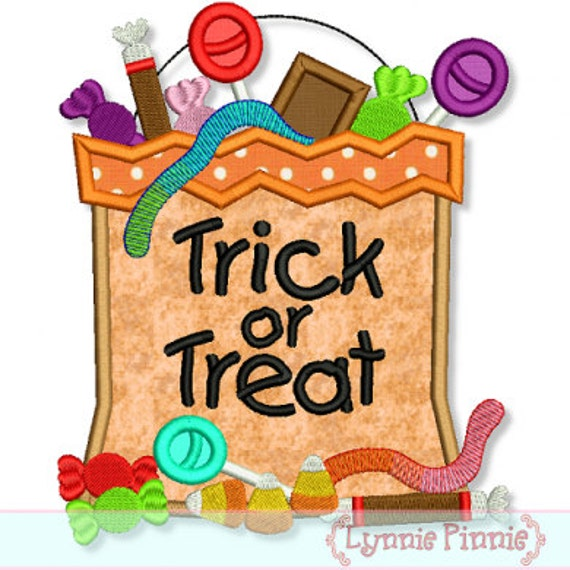 HALLOWEEN Candy BAG Applique 4x4 5x7 6x10 7x11 Machine Embroidery Design