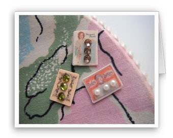 Vintage Button Notecards