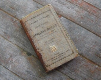 Miniature Book --- Antique French Schoolbook