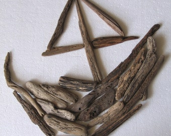 20 Natural Driftwood Sticks Mosaic Art and Craft Supplies (1436)