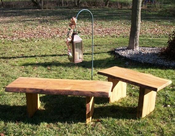 Items Similar To Rustic Garden Bench Wood Outdoor Indoor