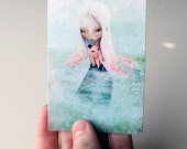 """ACEO ATC Artist Trading Card Mini Print - """"A Friend for the Journey"""" - Small Fine Art Print - 2.5x3.5"""""""