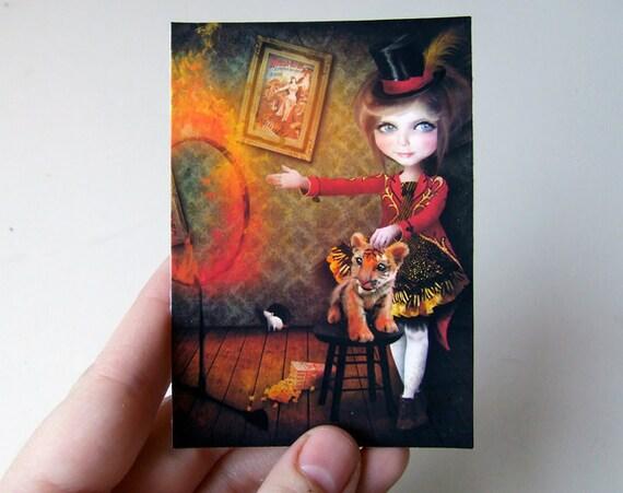 Ring of Fire ACEO/ATC Premium Hahnemuhle Fine Art Mini Print 2.5x3.5