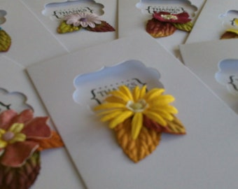Set of 8 Handstamped, Handmade Thank-you Cards
