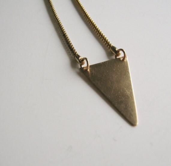RESERVED for Lindsay. Brass Arrow on Vintage Snake Chain.