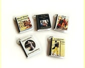 Miniature Book Charms - Classics Theme - Set of Five