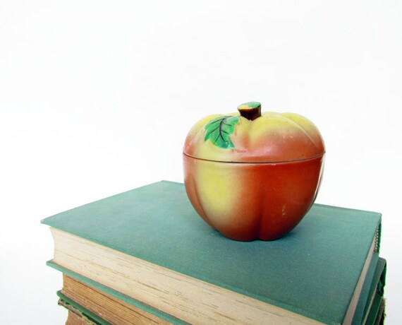 Vintage Apple Container Japan Lidded - Back to School gift
