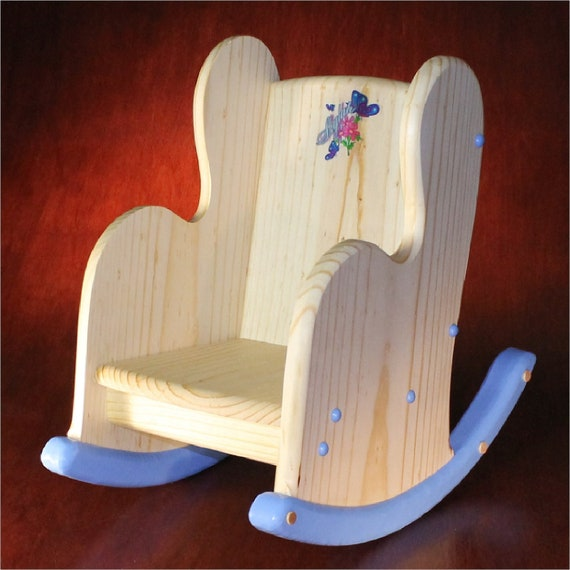 Items similar to Childs Wooden Rocking Chair - Personalized on Etsy