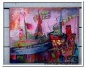 acrylic painting Mari Ward MAine artist after the storm nautical art