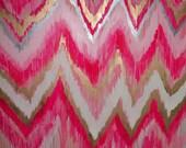 Cotton Candy Original ikat chevron 36x48 Painting by Jennifer Moreman