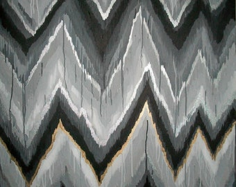 Sabrina Original ikat chevron 36x48 Painting by Jennifer Moreman