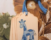 Tag Baby Shower Giraffe Boy Girl Vintage Style Wish Tree Gift Tags Party Favor Treat Bag Tag TB008