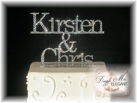 Name Cake Topper Custom Wedding Cake Topper Personalized