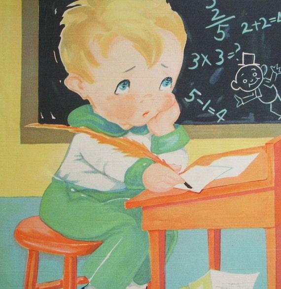Vintage Multiplication Deedle Dumpling Ruth E. Newton Nursery Rhyme Book Print
