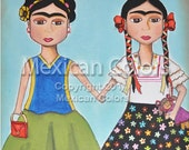 Original Acrylic Painting - The two Fridas - (8 x 10 inches)