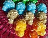 The Original Mexican Day of the Dead Dia de los Muertos Sugar Skulls Vegan 8 count