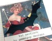 Halloween Large Bat Necklace - Laser Cut Acrylic