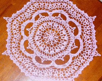 Delicate Lavender Doily - ready to ship - crocheted