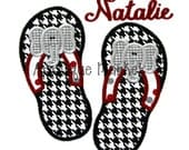 Machine Embroidery Design Applique Flip Flops Elephant INSTANT DOWNLOAD