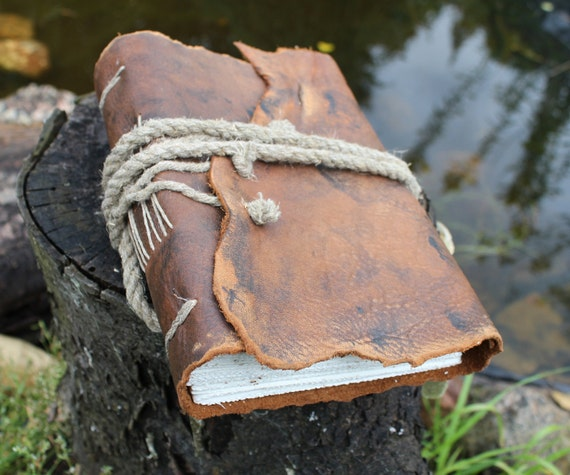 Leather vintage look journal