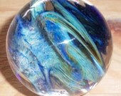 Reserved - Mystery Marble Blue Green and Silver Creek Frit Swirl