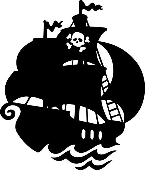 Pirates Kids Wall Decal: Items Similar To Pirate Ship Vinyl Wall Decal On Etsy