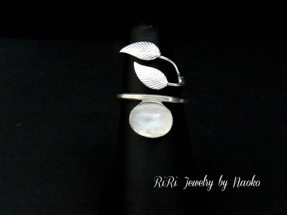 Custom Order for Emily, 10% off Leaves and Opal Ring in Sterling Silver - Bridal Ring, Wedding Ring
