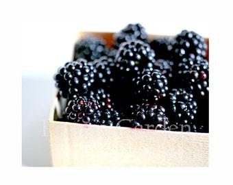Blackberries at the Market 8 x 10 // Nature Floral Plant Life// Fine Art Photography Print // Prairie Garden