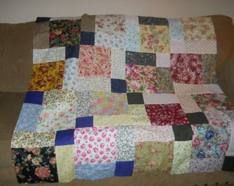 Handmade  Roses Quilt Top -- SALE