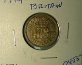 Silver 1944 Great Britain Sixpence Coin