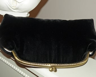Silk Velvet Clutch/Purse/Bag..Black Velvet..Ivory/Brown/Burgundy..Bridal Wedding Gift..Free Monogram..matching wrap available