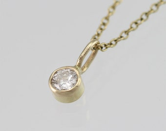 """Diamond Necklace in 14K Yellow Gold (16"""")"""