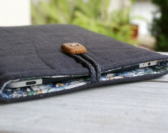 iPad Sleeve Case Cover/ padded sleeve for iPad/ linen