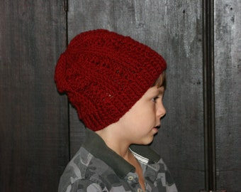 CROCHET PATTERN - The Irish Sea Minimal Slouch Beanie Unisex Hat ---Make adult, child or toddler