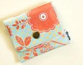 Vintage Red Floral Change Purse - Vinyl Wallet