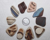 CUSTOM ORDER FOR  Sally Botham only Pottery Shards Top Drilled In Awesome Color and Size  zy384