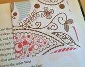 Magnetic Bookmark - paisley print