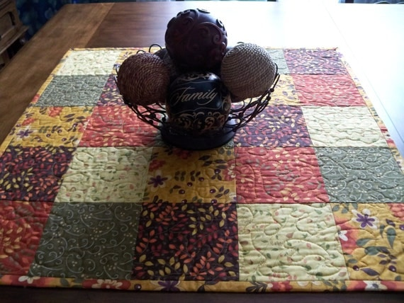 Autumn Awesome Quilted Table Topper