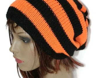Hand knitted, slouchy beanie, tam hat