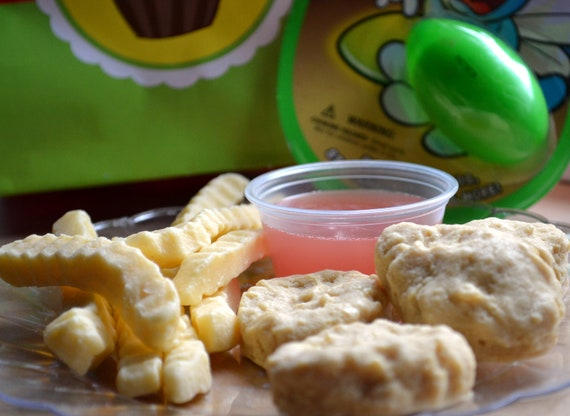 Chicken Nuggets Fast Food Kids Meal Fun Soap Set - AN AJSWEETSOAP EXCLUSIVE