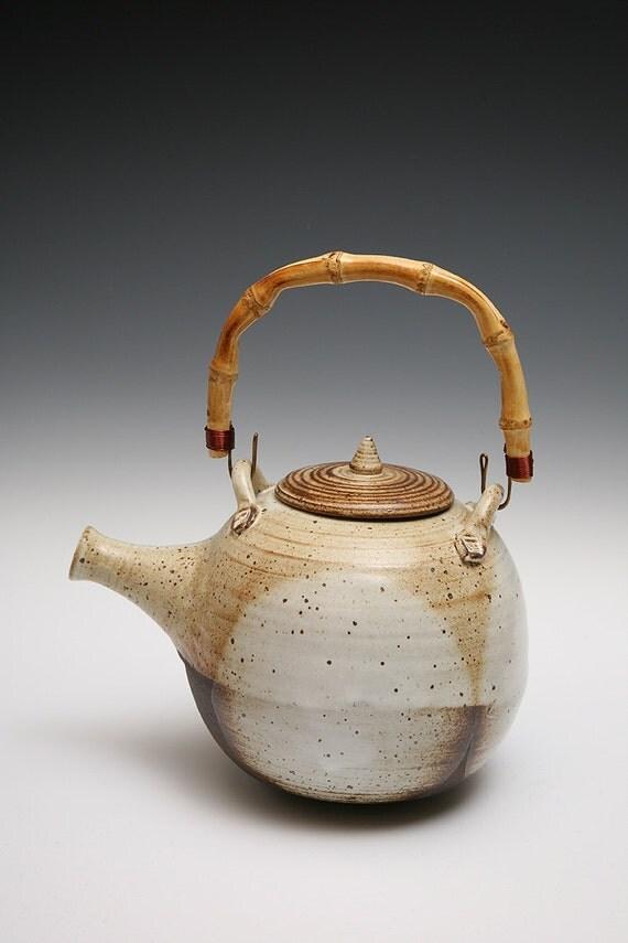 Wheel Thrown Black Mountain Clay Large  Teapot