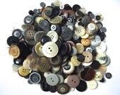 500 Mixed Neutral Buttons 10 oz Gray Buttons Black Buttons Brown Buttons White Buttons Ivory Buttons Crafts Crafting Buttons Sewing Neu01