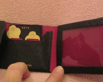 Vintage Red and Black Leather Wallet SALE