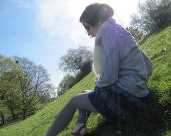 SALE ! - Denim Mini Ruffle Skirt