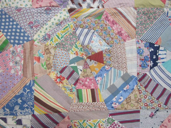 Vintage Cotton Quilt Top for Crazy Chair Cover