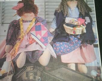Quilter Seamstress Peddler Dolls Simplicity 7958